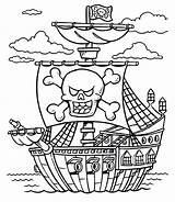 Pirate Coloring Pages Ship Pirates Caribbean Treasure Chest Printable Lego Boat Adults Sheet Line Drawing Colouring Colorings Adult Sheets Getcolorings sketch template