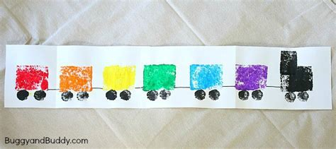 sponge painted craft inspired by freight 129 | ft10wm