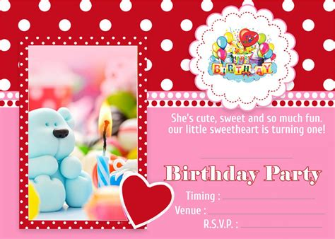Birthday invitation Metallic cards for Boy's and Girl's