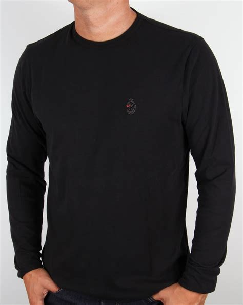 luke long sleeve  shirt blackteecrew neckmiddle wicket