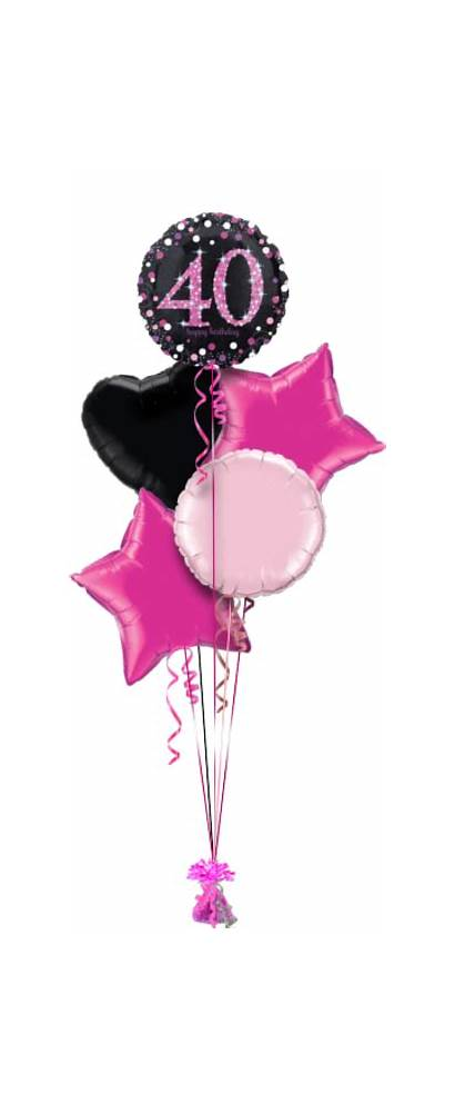40th Birthday Confetti Balloon Glimmer Gift Age