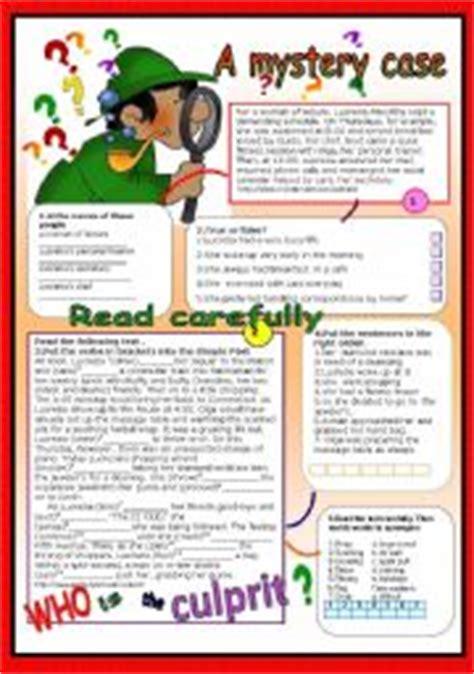 a mystery case esl worksheet by patties