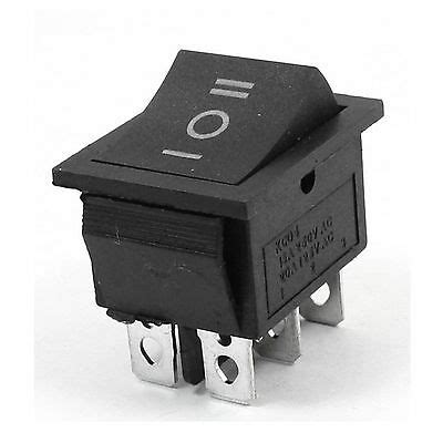 Rocker Switch Off Momentary Snap Dpdt