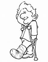 Crutches Coloring Printable sketch template