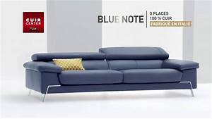 cuir center nouvelle collection canape blue note youtube With cuir center canapé cuir
