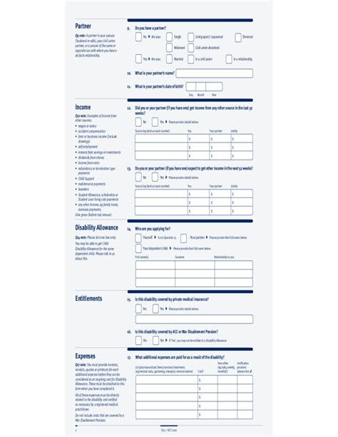where can i get disability forms disability allowance form new zealand free download