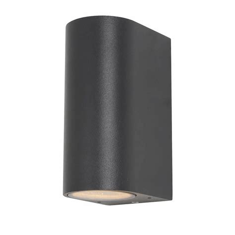 irwell up down light outdoor wall light anthracite