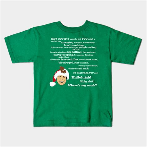 Christmas vacation clark rant quotes quotesgram. Clark Griswold Coronavirus Rant - Christmas Vacation Quote - Kids T-Shirt | TeePublic