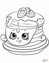 Coloring Pancake Shopkin Strawberry Ultra Rare Printable Drawing Paper sketch template