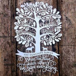 sas creative new family tree papercut design With paper cut family tree template