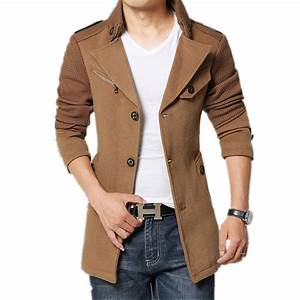 2017 Brand Winter Jacket Coat Men Turnd down Collar Slim ...
