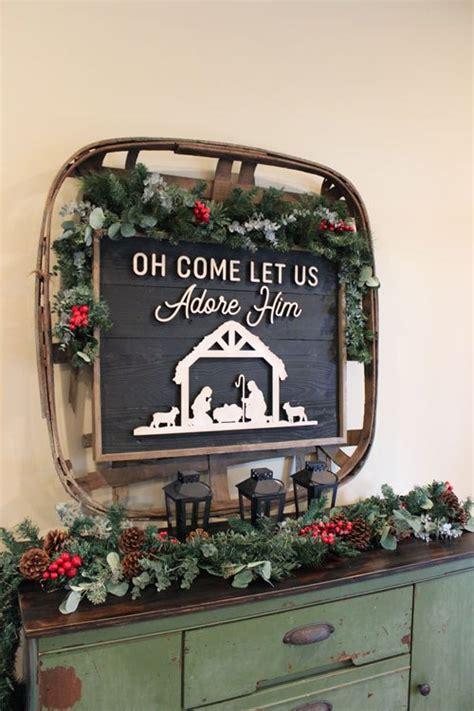 simple christmas console table decor  hamby home