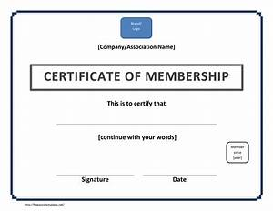 certificate of membership template With new member certificate template