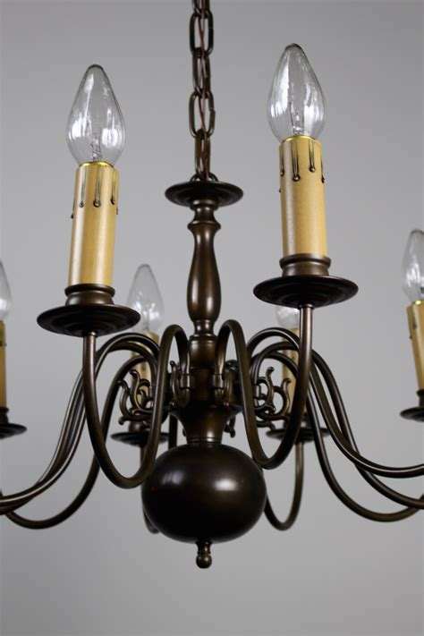 Dutch Colonial Tenlight Fixture, Circa 1940s
