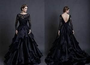 Black wedding dresses review of mona lisa wedding gown by for Dark wedding dresses