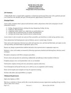 home health aide resume description home health aide resume exle sle