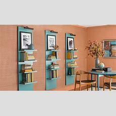 Lighted Vertical Wall Shelf