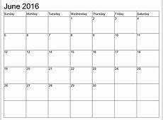 June 2016 Calendar Printable With Holidays » Calendar
