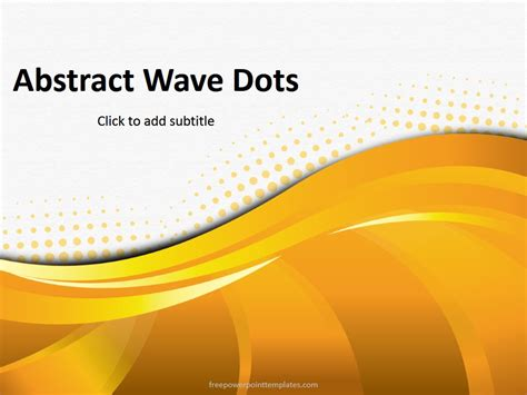 abstract orange dots powerpoint template