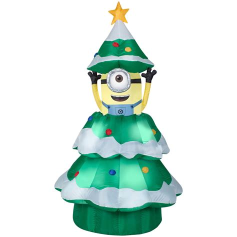 shop gemmy 6 98 ft x 3 77 ft animatronic lighted minion