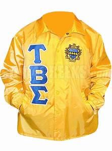 tau beta sigma greek letter line jacket with crest gold With windbreaker greek letters