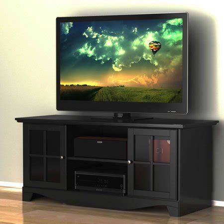 pinnacle center channel black tv stand  tvs