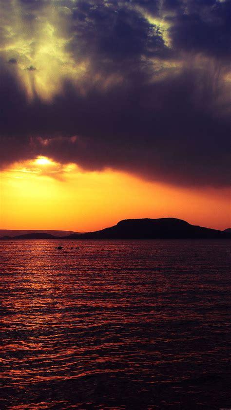 mc wallpaper badacsony sea sunset papersco