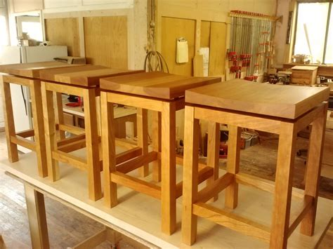 crafted kitchen island height cherry bar stools by