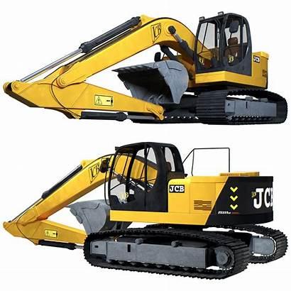 Jcb Excavator 3d Models Vehicle Industrial Cgtrader