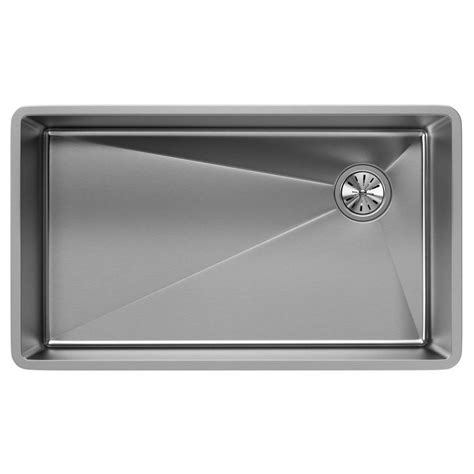 stainless steel undermount kitchen sinks single bowl elkay crosstown undermount stainless steel 32 in single