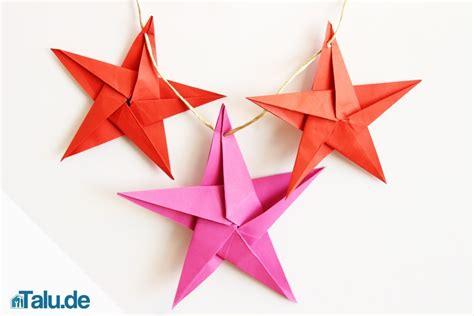 origami stern falten stern aus papier basteln talude