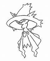Mismagius Pokemon Coloring Colorare Razor Colorear Dibujos Coloriages Disegni Template Bonjourlesenfants Torna sketch template