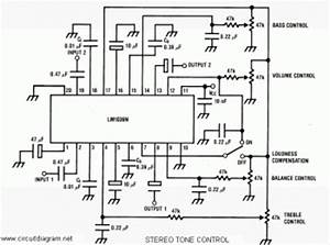 stereo tone control with lm1036 circuit diagram circuit With dvd player circuits