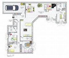 hd wallpapers plan maison 100m2 plein pied sans garage - Plan De Maison 100m2 Plein Pied