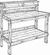 Coloring Pages Bench Garden sketch template