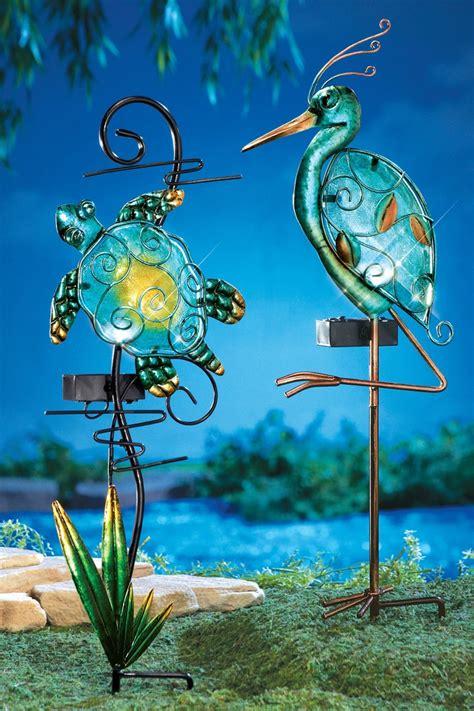 decorative solar yard lights solar lighted seashore decorative garden stakes