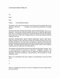 best photos of sample counseling letter employee With counseling memo template