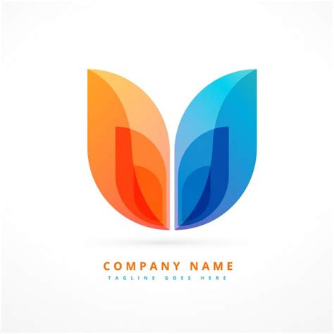 free logo design and abstract colorful logo design vector free