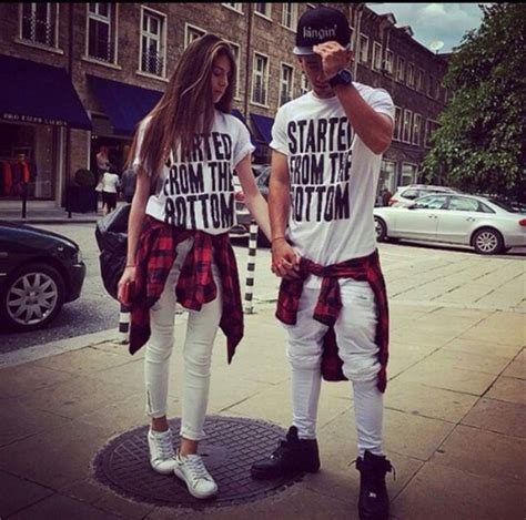 Drake t-shirt couple white fashion couple sweaters instagram matching couples jeans t ...