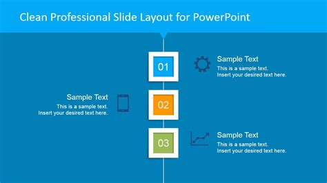 clean professional vertical layout  powerpoint blue