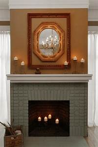 Cool Ideas Paint Brick Fireplace Home Painting Image Of