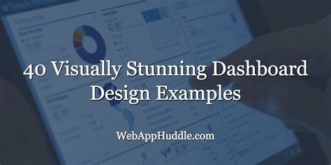 visually stunning dashboard design examples web app