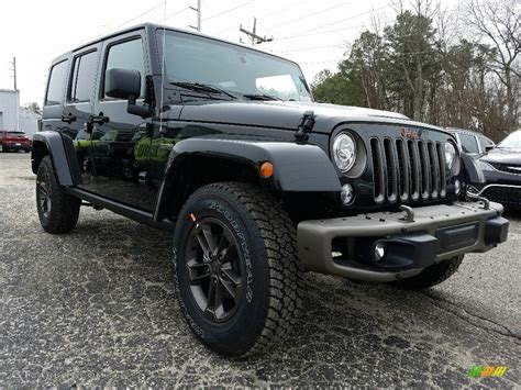 jeep black 2017 2017 black jeep wrangler unlimited 75th anniversary