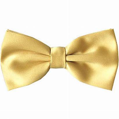 Bow Tie Gold Ties Tied Neck Sizes