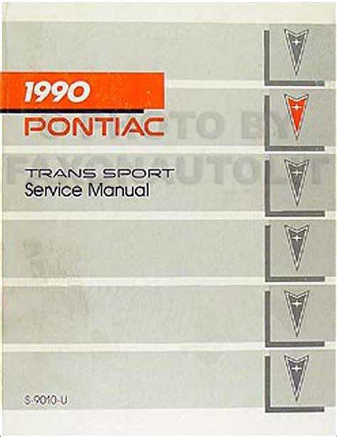 car repair manuals online pdf 1990 pontiac trans sport seat position control 1990 pontiac trans sport van repair shop manual original