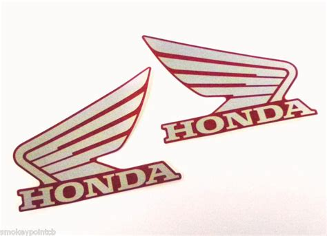 buy new tank emblems decals stickers genuine honda wing for cafe bobber custom e0199 motorcycle