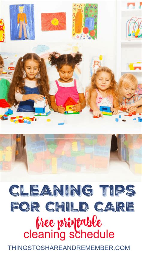 cleaning tips for child care with printable cleaning schedule 130 | Cleaning Tips for Child Caresm1