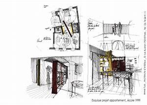 École Architecte D Intérieur : armel tual architecte d 39 int rieur cfai esquisse appartement ~ Melissatoandfro.com Idées de Décoration