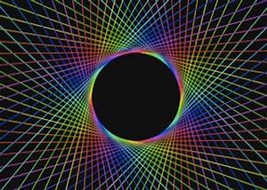 Rainbow Black Hole - Pics about space