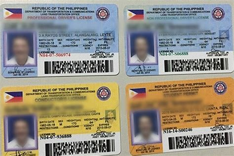 lto reveals  color coded drivers license cards